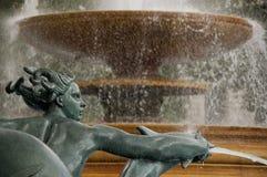 London Trafalgal Square Fountain. London Detail of the fountain on Trafalgar Square Stock Photos