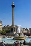 London - trafalgar fyrkant Arkivfoto