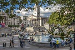 London Trafalgar fyrkant Arkivbild