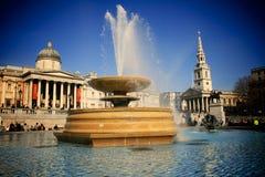 London Trafalgar Square. National Gallery in London and Trafalgar Square Royalty Free Stock Image