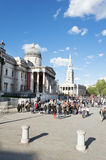 London Trafalgar Square Stock Photography