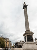 London Trafalgar Square lejon och Big Ben Royaltyfri Foto