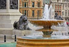 London Trafalgar Square in UK Stock Images