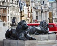 London Trafalgar Square in UK Stock Photography
