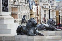London Trafalgar Square in UK Stock Photo
