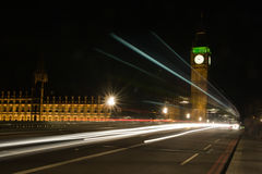 London traffic at night Royalty Free Stock Image