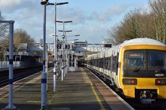 A London train at Hither Green station. Train at Hither Green station for passengers Stock Image