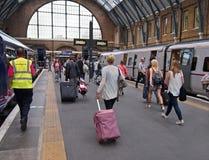 London train station Stock Photo