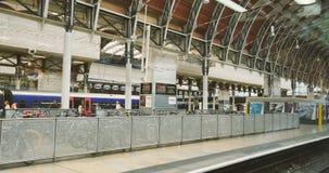 London Train station Paddington stock video footage