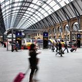 London train station Stock Photography