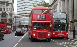 London Transport AEC Routemaster Bus Stock Photo