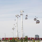 London Transport Emirate Air Line, London Thames Cable Car Royalty Free Stock Image
