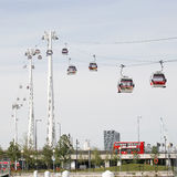 London Transport Emirate Air Line, London Thames Cable Car Stock Photo