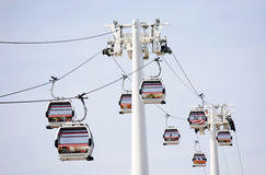 London Transport Emirate Air Line, London Thames Cable Car Stock Images