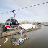 London Transport Emirate Air Line, London Thames Cable Car Royalty Free Stock Photos