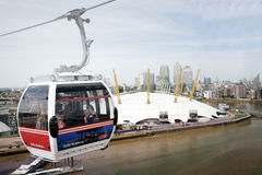 London Transport Emirate Air Line, London Thames Cable Car Stock Image