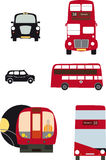 London transport. Iconic classic pictures of transport in London royalty free illustration