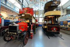 London transport museum - english double deckers Royalty Free Stock Image