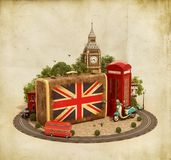London traveling concept Royalty Free Stock Images