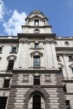 London Treasury. London, UK - The Exchequer, also known as Her Majesty's Treasury building Stock Image
