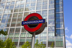 London tube, Canary Wharf station, Stock Photos