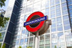 London tube, Canary Wharf station, Royalty Free Stock Photo
