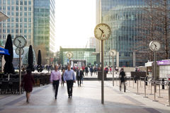 London tube, Canary Wharf station, Stock Photography