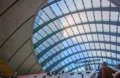 London tube, Canary Wharf station, Stock Photo