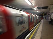 London Tube - high speed transportation Stock Photography