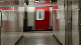 London Tube Moving stock video