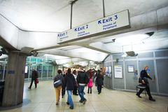 London tube passage Royalty Free Stock Photos