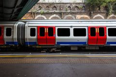 London tube train. A view of London tube train with ads and people removed Stock Photo