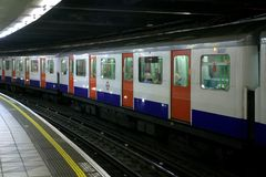 London - The tube (U Train). View of the main city transport of London, the underground train, so called The Tube Stock Photography