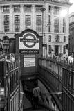 London tunnelbana - bankstation - LONDON - STORBRITANNIEN - SEPTEMBER 19, 2016 Royaltyfria Bilder