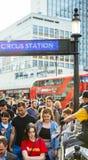 London tunnelbanaingång Arkivfoton