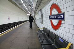 London tunnelbanastation Royaltyfri Foto