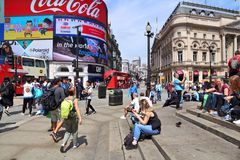 London turister Royaltyfri Foto