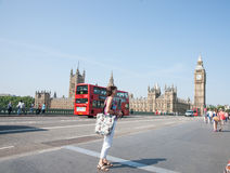 London turister. Royaltyfri Bild