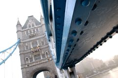 London-Turm-Brückenmetall-nivets Detail Lizenzfreie Stockfotos
