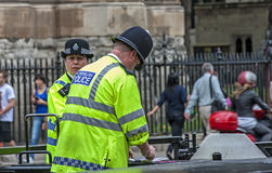 London Two Policemen front of Westminster Palace-3 Stock Photos