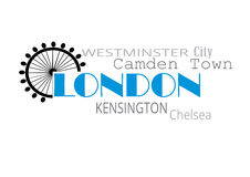 London typografi Arkivfoto