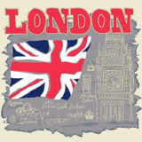 London Typography Graphics, T-shirt design Royalty Free Stock Image