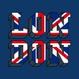 London typography, t-shirt graphics. Vector illustration Royalty Free Stock Photo