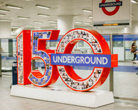 London-U-Bahn-Jahrestag Lizenzfreies Stockbild