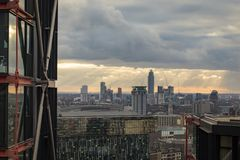 View of South London and Vauxhall stock photos