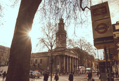 "LONDON UK †""April 14th, 2016: Retro fotofiltereffekt lon Arkivbilder"