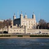 LONDON/UK - 13 ΦΕΒΡΟΥΑΡΊΟΥ: Άποψη του πύργου του Λονδίνου στο Λονδίνο Στοκ φωτογραφίες με δικαίωμα ελεύθερης χρήσης