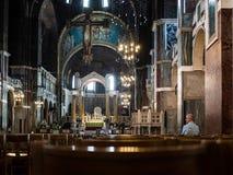 LONDON/UK - 15-ОЕ АВГУСТА: Внутренний взгляд собора i Вестминстера Стоковое Изображение