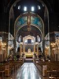 LONDON/UK - 15-ОЕ АВГУСТА: Внутренний взгляд собора i Вестминстера Стоковая Фотография