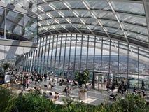 LONDON/UK - 15-ОЕ ИЮНЯ: Взгляд сада неба в Лондоне 1-ого июня Стоковое фото RF
